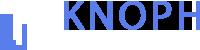 Knoph Consulting Logo Blå og hvit